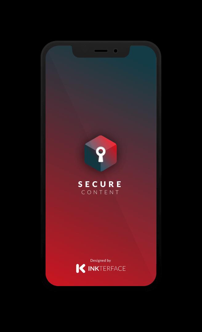Secure Content, app para iPhone de Dani Soler diseñador UX UI